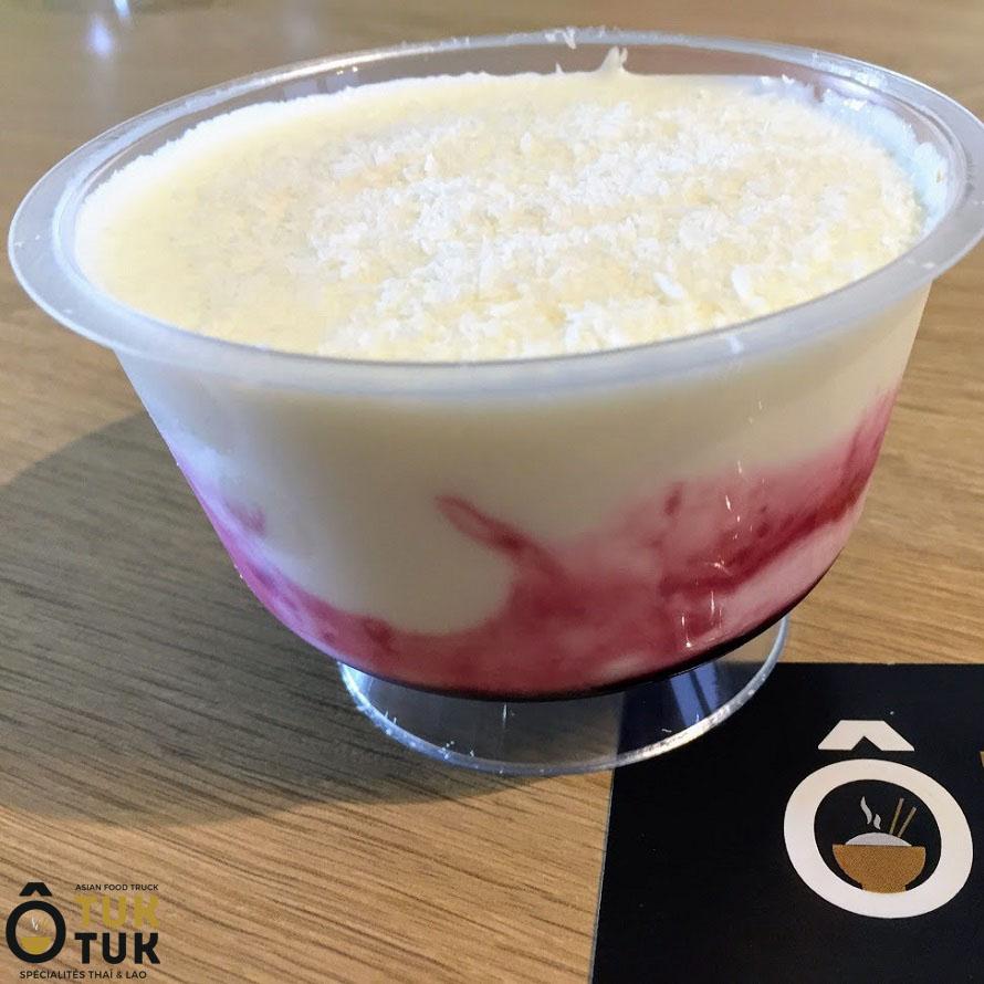 Dessert formage blanc et confiture