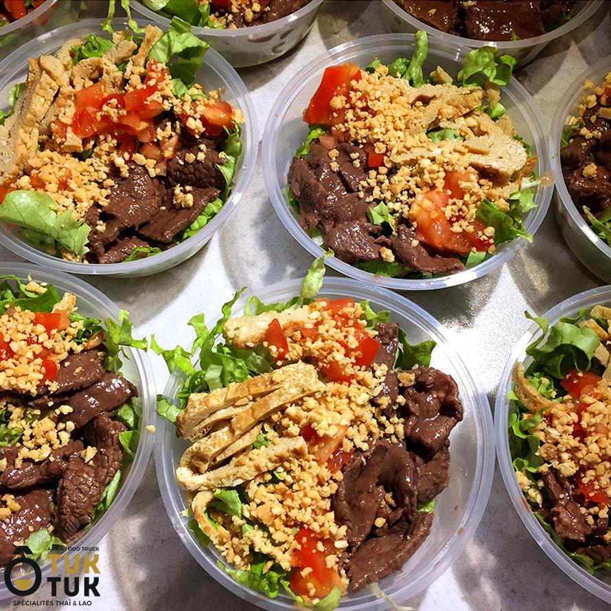 entrée salade de boeuf O Tuk Tuk