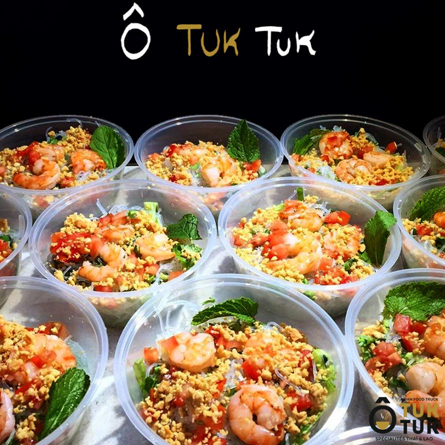 entrée salade de crevettes cuisine thai