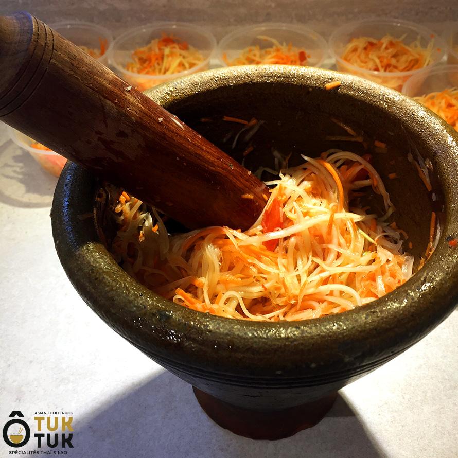 entrée salade de papaye cuisine thai toulouse