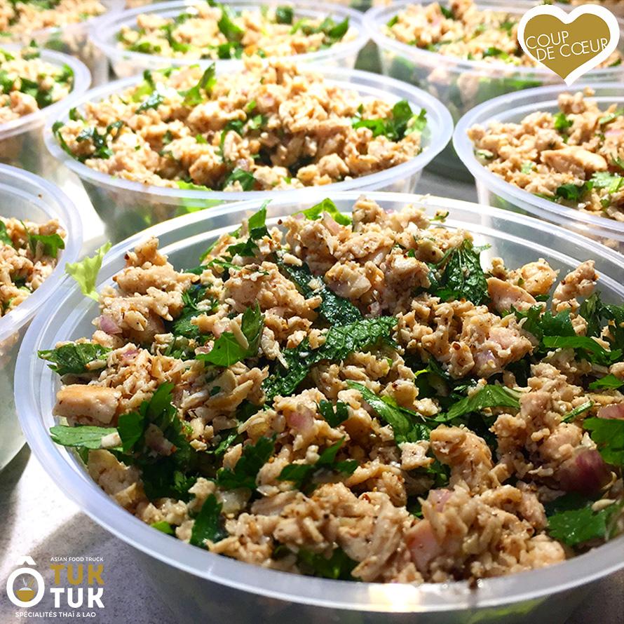 entrée salade de poulet laotienne o tuk tuk