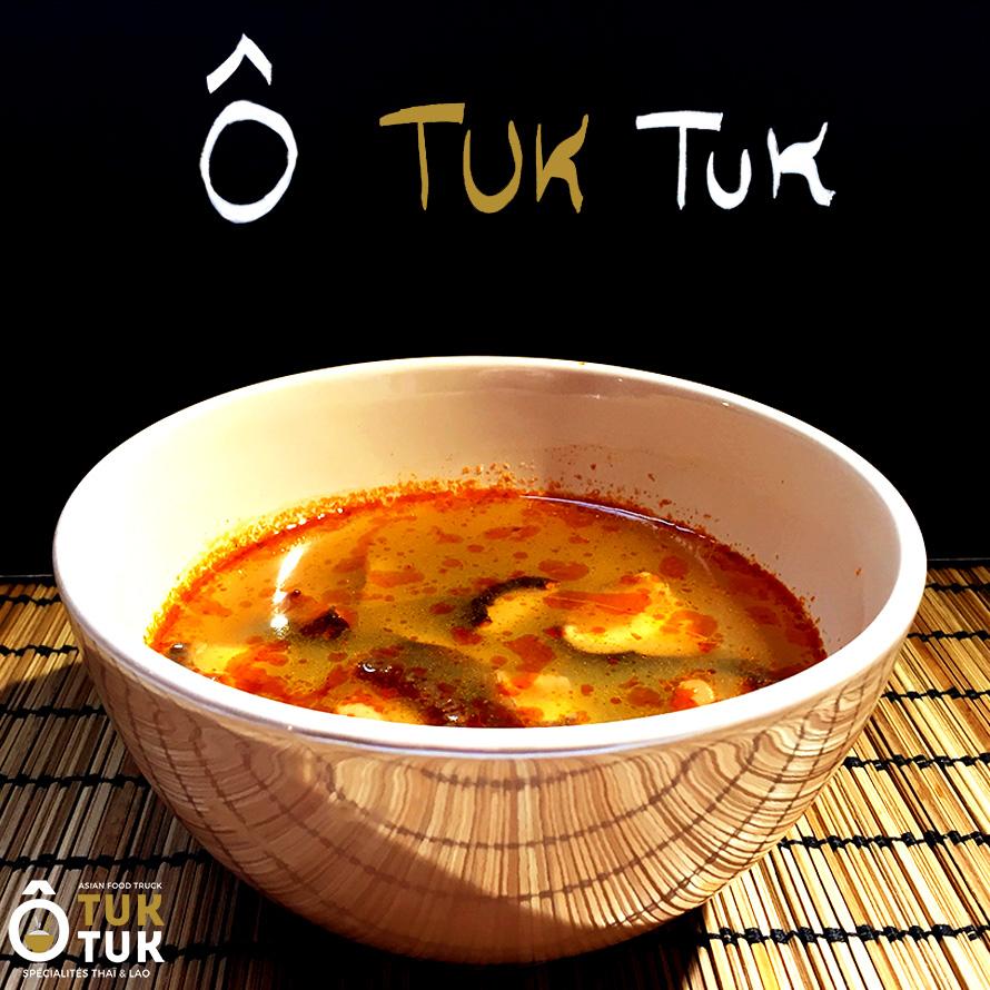 les entrées O Tuk Tuk soupe thaï aux crevettes