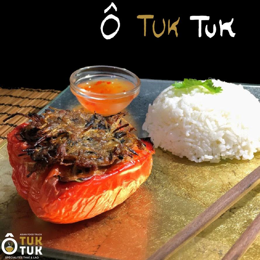 plat poivron farci cuisine thai