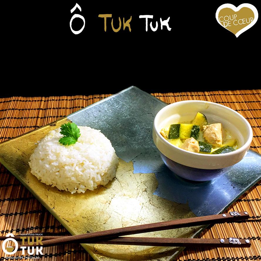 plat poulet au curry vert coco cuisine thai O tuk tuk